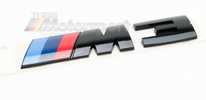 Genuine Bmw Oem M3 F80 Trunk Lid Black Emblem M Badge Nameplate Competition Pkg