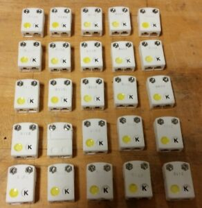 Qty 25 Used Omega K Thermocouple Ceramic Female Connectors