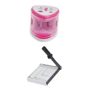 Automatic Pencil Sharpener Paper Cutter Steel Manual Stack Paper Cutter
