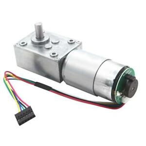 24v 27rpm Electrical Speed Reducer Dc Gear Motor With Encoder High Torque