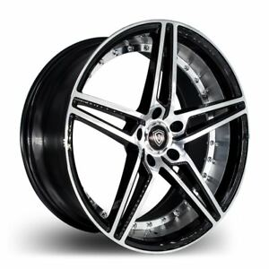 20x9 20x10 5 5x110 Marquee M3258 Black W Mach Made For Pontiac Chevy Saab Dodge