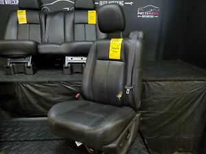 2006 Saab 9 7x Set Of Front Left Right Rear Leather Seat Ebony 482 Rip