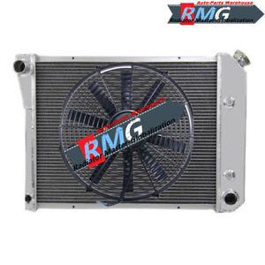 3 Row Aluminum Radiator For 1968 1969 1970 1971 1972 1973 1974 Chevy Nova fan