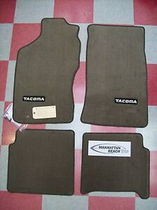 1995 2004 Tacoma Xtra Cab Carpet Floor Mats oak Beige genuine 00200 35964 16