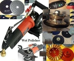 Wet Polisher 3 8 Full Bullnose Router Bit 16 Pad Grinding Cup Stone Countertop