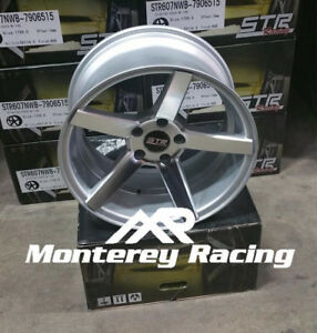 18x8 5 Str 607 Silver Machine Face 5x108 Made For Ford Volvo