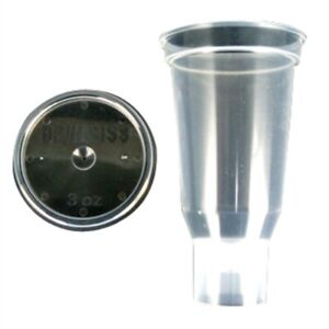 3 Oz Disposable Cup And Lid Qty 24 Devilbiss Devdpc503k24