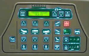 Kci Carroll Hospital Bed Panel Set W Main Control Display