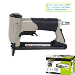 Meite Mt5016s 20ga 1 2 inch Crown Pneumatic Upholstery Stapler Gun With Safety