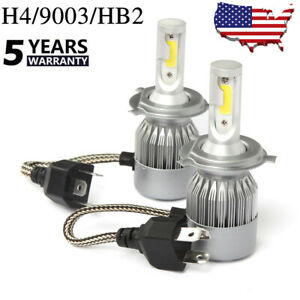 H4 Hb2 9003 Led Headlight Kit High Low Beam Bulbs White 6000k 72w Power 7600lm