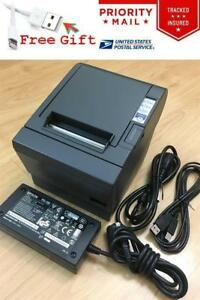 Epson Tm t88iii Pos Thermal Receipt Printer Usb Interface Ps 180 Power Supply