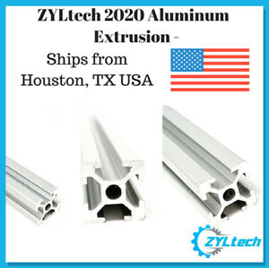 Zyltech 2020 Aluminum T slot Aluminum Extrusion 2000mm 2m Cnc 3d Printer matte