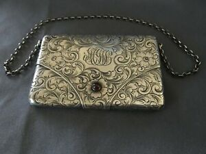 Highly Ornate Sterling Silver Card Holder