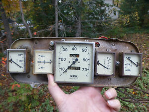 Vintage Austin A40 Instrument Cluster Speedometer Gauges Smiths Us1007 1475