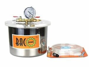 Bacoeng 1 5 Gallon Stainless Steel Vacuum Chamber Silicone Kit For Degassing