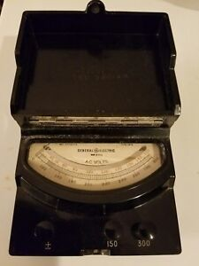 Vintage General Electric 8ap9vbf7 Ac Volts Meter 150 600 Volt Type Ap 9 Bakelite