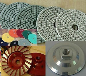 5 Inch Polishing Pad 20 Piece Concrete Grinder Aluminum Backer Cup Wheel Granite