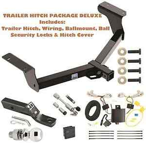 Trailer Tow Hitch Pkg Delux For 13 17 Toyota Rav4 Wiring Hitch Locks