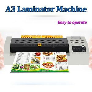A3 Photo 220v 600w 4 Rollers Thermal Hot Cold Film Laminating Laminator Machine