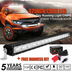 Cree 42inch 560w Led Light Bar Flood Spot Work Off Road Ford Driving Lamp 50 32