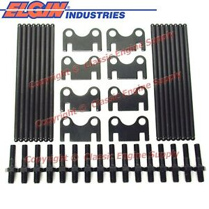New Pushrods Flat Guide Plates 3 8 Rocker Arm Studs Sb Chevy 400 350 327 283