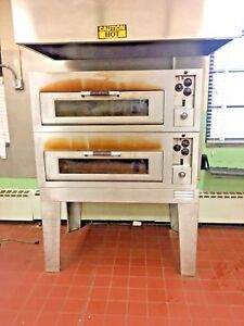 General Electric Pizza Oven Double Deck On Legs Electric