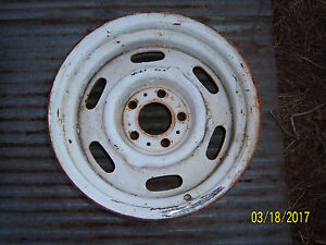 Mopar Cop Police Car Rally Wheel Original Steel 15x7 Chrysler Dodge Plymouth 69