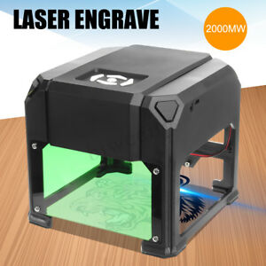 2000mw Desktop Laser Engraving Machine Diy Logo Marking Engraver Cutter Printer
