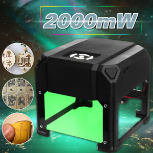 2000mw Logo Marking Engraver Desktop Laser Engraving Machine Range 80 80mm Gift