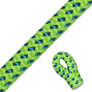 Tachyon Green And Blue Arborist Climbing Rope 7 100lbs Wspliced Eye