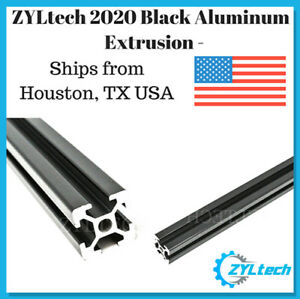 Zyltech 2020 Aluminum T slot Aluminum Extrusion Black 2000mm Cnc 3d Printer
