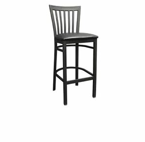 New Commercial Elongated Vertical Back Metal Barstool Restaurant Furniture 834bs