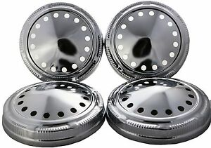 Dog Dish Poverty Hub Caps For Mopar Plymouth Dodge Chrysler Set Of 4