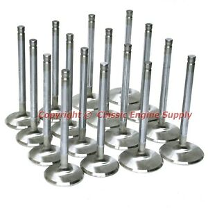New Stainless Steel Valve Set 1 88 2 19 100 Long 11 32 Stems Chevy Bb