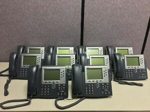 lot 10 Cisco Ip Phone 7900 Series Cp 7962g Voip Business Phone used