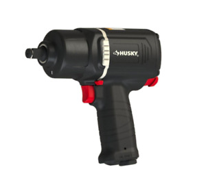 Husky 1 2 Inch Drive Air Compressor Pneumatic Impact Wrench Bolting Power Tool