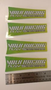 Jdm Reflective Decal Sticker Volk Rays Racing Rare Japan Drift Us Seller 4x