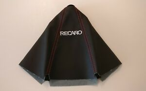Recaro Leather Shift Boot Black With Red Stitching Jdm Racing Seat