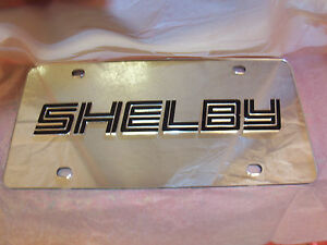 Shelby Mustang License Plate Colors Silver black New