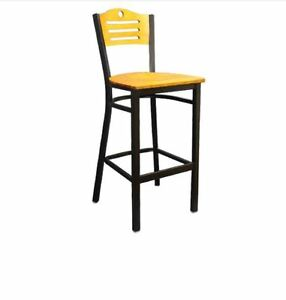 Commercial 3 Slats With Circle Metal Barstool Restaurant Seating Furniture 861bs