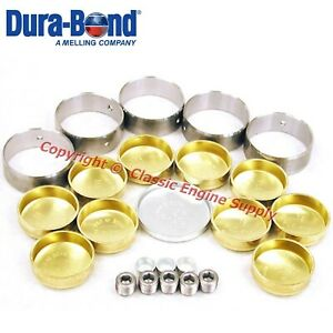 New Cam Bearings Brass Freeze Plug Set Sb Chevy 400 V8 Engines