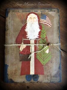 Primitive Christmas Belsnickle The Gift Giver Santa Claus Journal Cupboard Tuck