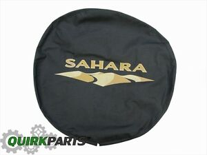 2007 2018 Jeep Wrangler Sahara Spare Tire Cover Mopar Genuine Oem Brand New