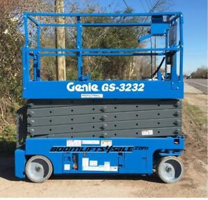 Genie Gs3232 32 Electric Scissor Lift refurbished 1 Year Warranty