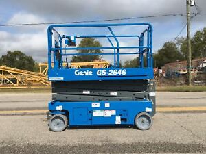 Genie Gs2646 26 Electric Scissor Lift refurbished 1 Year Warranty