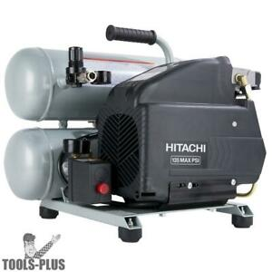 Hitachi Ec99s Portable 15 Amp Twin Stack Compressor New