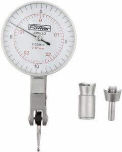 Fowler 52 560 060 Inch metric Dial Test Indicator With Satin Chrome Finish 0 00