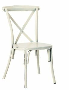 New Metal Cross Back Banquet Chair White Commercial Restaurant Furniture 2309