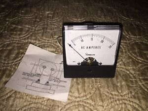 Simpson Model 1257 Catalog 02615 Analog Panel Meter 0 30 Ac Amperes Nib