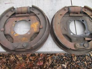 1939 1948 Ford Hydraulic Juice Backing Plates With Hardware Set Of Four